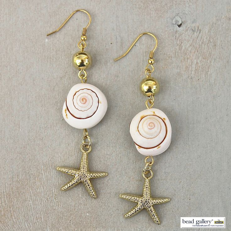 DIY Shore Earrings by @dyezbakmoore featuring Bead Gallery beads available at @michaelsstores #madewithmichaels