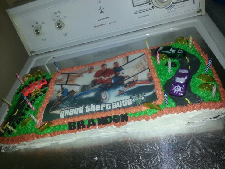 Grand Theft Auto Five Cake Gta 5 My Cakes Pinterest