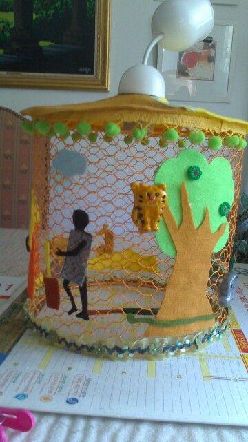 Lustre africain offert a Mael