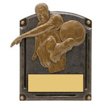 "Soccer Trophy - Male - 5 x 6 1/2"" 3D Shadow Award"
