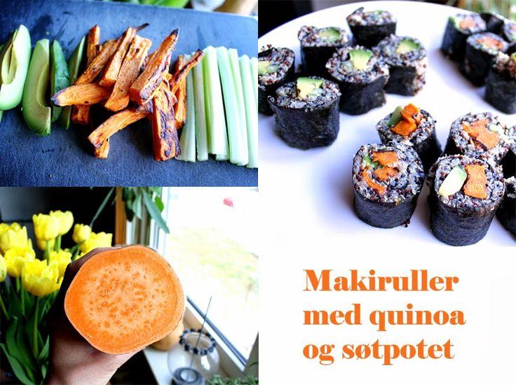 Oppskrift Vegan Maki Sushi Uten Fisk Quinoa Søtpotet Avokado Selleristang