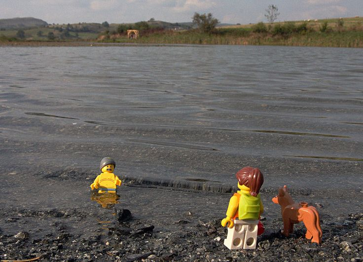 This weekend, Lego Dan and Dot have been camping in Mid Wales and Dan has been told that late September is a great time to go swimming in mountain lakes. On closer inspection however, he is beginning to wonder about the honesty of those making that claim and suspiciously, Dot has decided not to join him in the water. It's a good thing that Lego man anatomy is stripped back to the very basics, otherwise he may have had further cause for complaint.