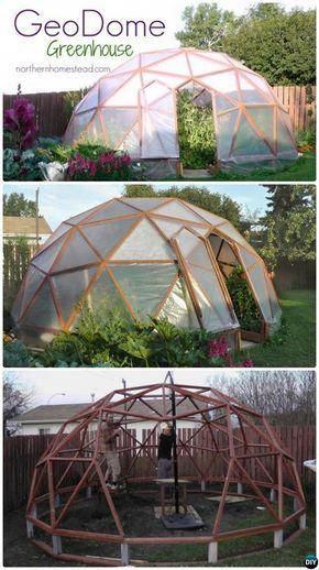 Diy Geodome Greenhouse Free Plan Instruction 18 Green House Projects Instructions Gardening Greenhouseplansdesign