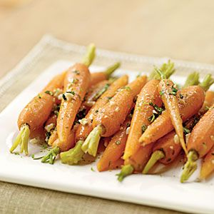 Steamed Carrots with Garlic-Ginger Butter   MyRecipes.com