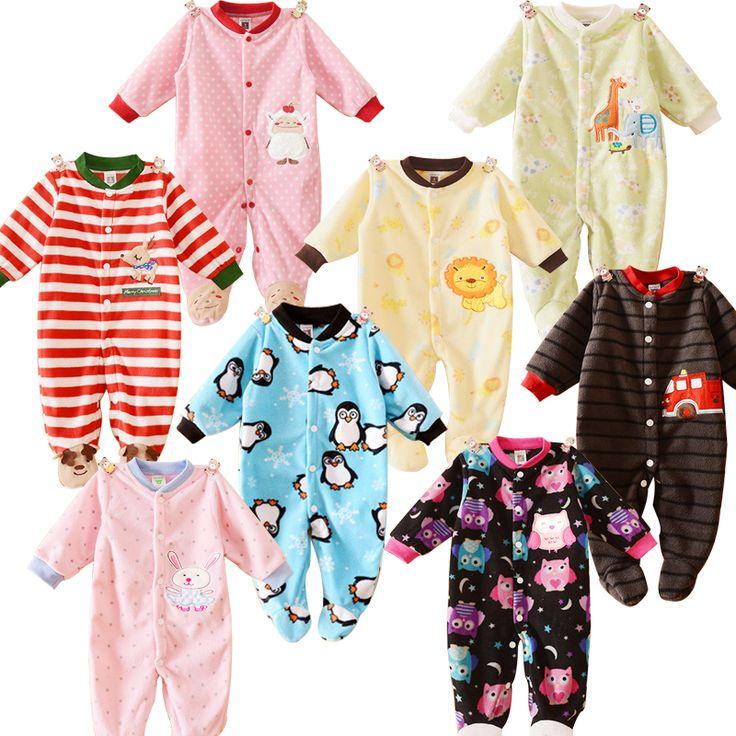 Barato Meninos Romper do bebê Meninas Macacão Crianças Roupas de Inverno bebê…