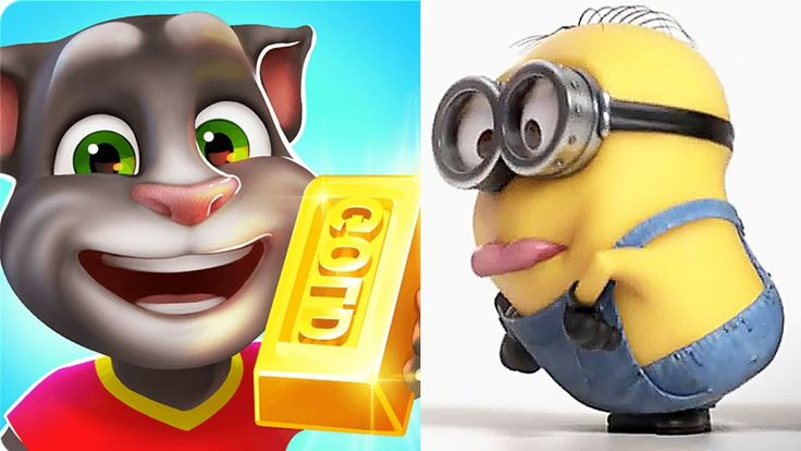 My Talking Tom GOLD RUN VS Despicable me 2 MINION RUSH gameplay
