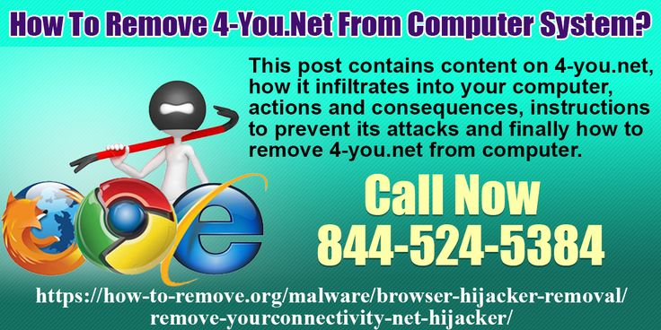 Remove 4-you.net from computer system. Visit https://how-to-remove.org/malware/browser-hijacker-removal/remove-yourconnectivity-net-hijacker/