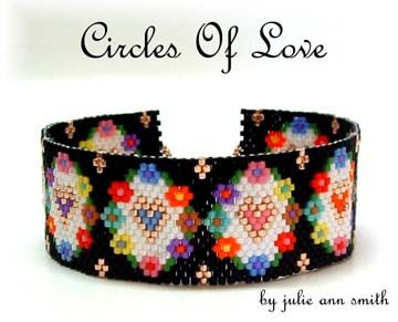 CIRCLES OF LOVE Bracelet Pattern, Sova Enterprises