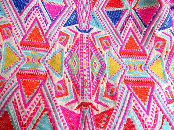 Heavy Upholstery Fabric Woven Fabric Pop Decor Vibrant Colors Fabric