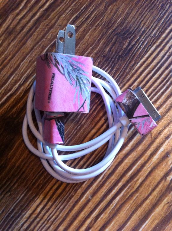 Pink real tree camo iphone 4/4s charger by KayleesKrafts15 on Etsy