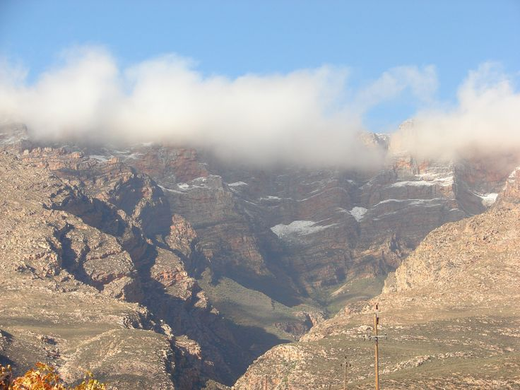 Winter in Hex River Mountain, South Africa