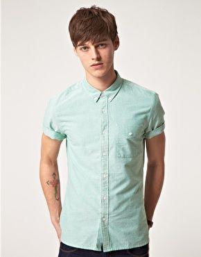 Image 1 ofASOS Oxford Short Sleeve Shirt