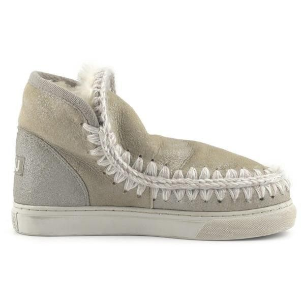 Mou Boots Mini Eskimo Sneaker Women Stone Metallic - MOU #mouboots #mousale #moubootssale #BlackFriday