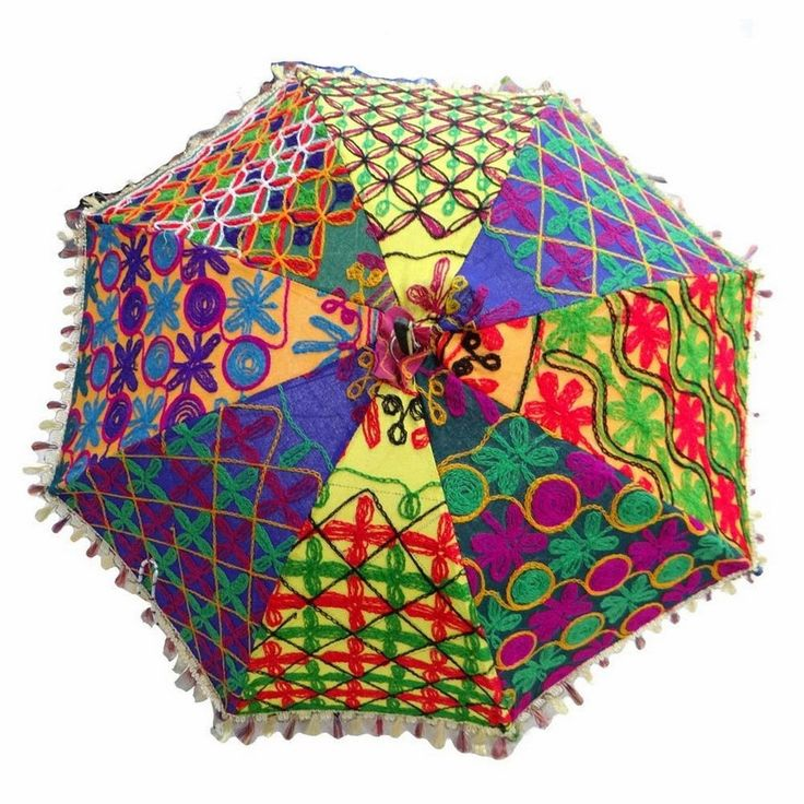 Patchwork Umbrella Parasols. Perfect for gypsy weddings and parties Each one is unique and handmade.. Photo's represent a huge assortment I have in stock.. Decorated with embroidery work, even the han