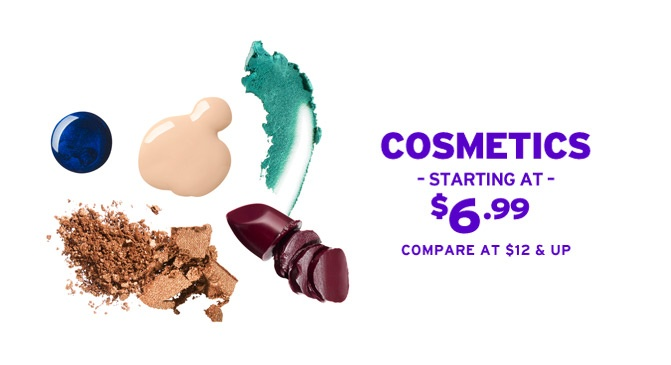 Marshalls Cosmetics Starting at $6.99 Compare at $12 & up