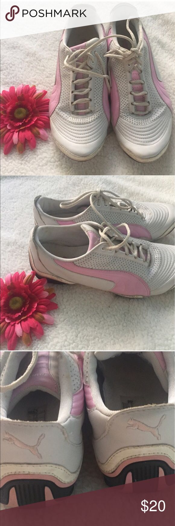 PUMA SNEAKERS 🚨PRICE FIRM🚨 💗Condition: Pre loved conditions, no scuffs, no rips or holes. No smell inside.  💗Smoke free home/Pet hair free 💗No trades, No returns. No modeling  💗 If you want to resell the item, yes, you are allowed to use my photos. 💗Shipping next day. Beautiful package! 💗ALL ITEMS ARE OWNED BY ME. NOT FROM THRIFT STORES 💗All transactions video recorded to ensure quality.  💗Ask all questions before buying Puma Shoes Athletic Shoes