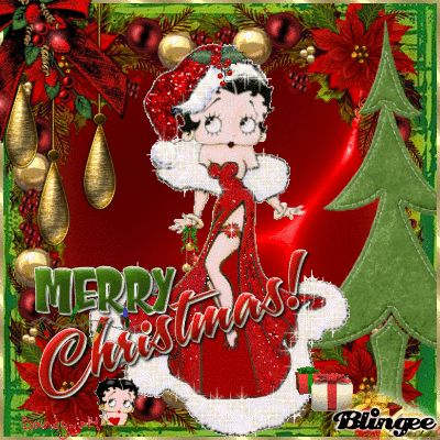 Betty Boop Christmas for Facebook | Betty Boop Christmas For My Friend Roxy Picture #103318989 | Blingee ...