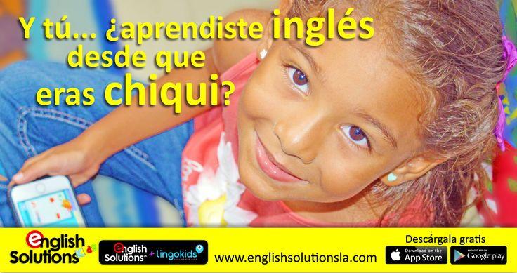 Ahora aprender inglés es mucho más fácil.  Permite que tu chiqui desde los 2 años aprenda inglés JUGANDO.  English Solutions y LingoKids te traen el método de inglés autodirigido más eficaz para niños entre los 2 y los 6 años. Prueba nuestra aplicación PREMIUM por un mes GRATIS.    Descárgala aquí  http://englishsolutionsla.lingokids.com/