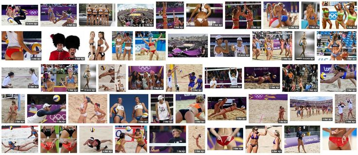 Photographic Coverage of Olympic Beach Volleyball
