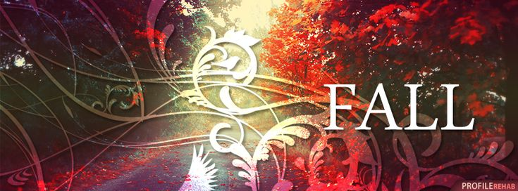 Fall Facebook Cover with Fall Text - Fall Season Images - Fall Cover Photo