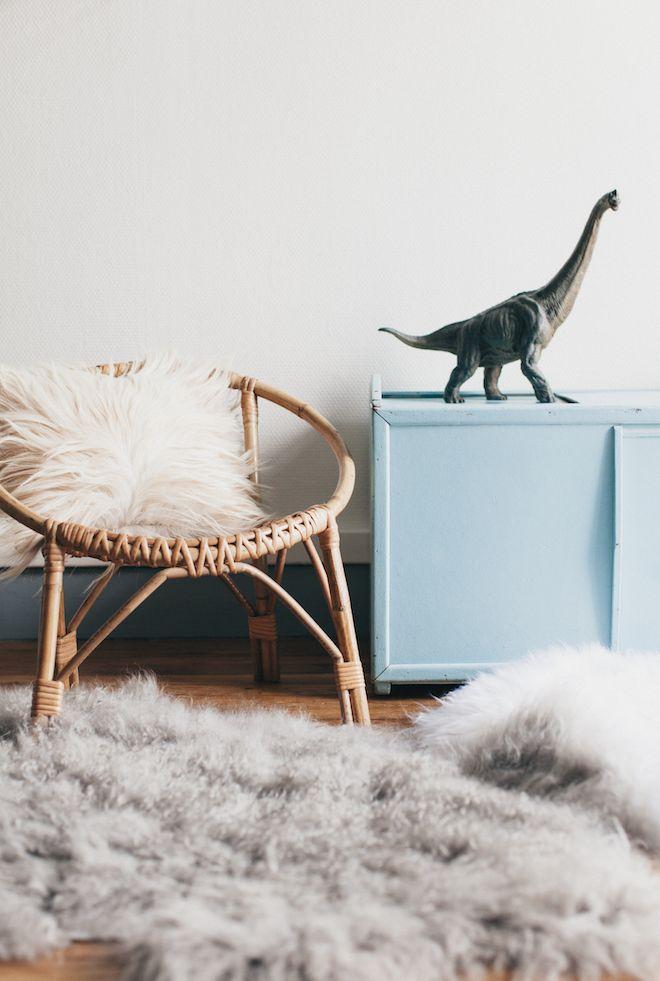 Muebles de Ratán en la habitación infantil