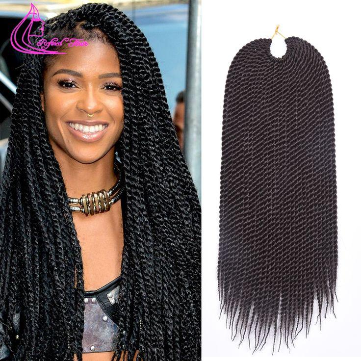 "Big Promotion 18"" 30 strands 75g/pack Crochet Braids Ombre Kanekalon Braiding Hair Best Crochet Senegalese Twist Hair Extensions"