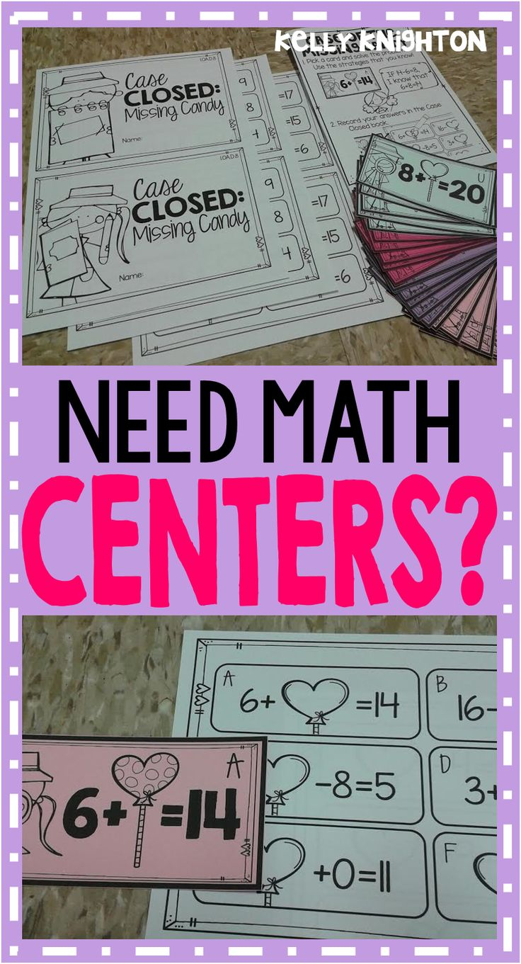 Are you in need of Common Core aligned math centers for your first graders? Concepts covered include missing addend, true/false, even/odd, measuring, addition and subtraction fluency, money, and MORE.