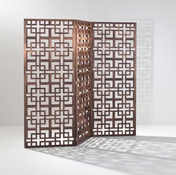 Opt for screens versus cubes! Solid Walnut Room Screen Divider — Fixed price $1,000 at  krrb.com (solid walnut room screen divider)