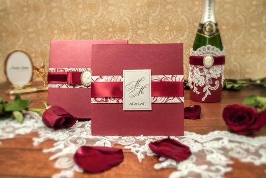 """Пригласительная открытка """"Марсала"""" - фото 10072370 Anna Love приглашения и бонбоньерки на заказ"""