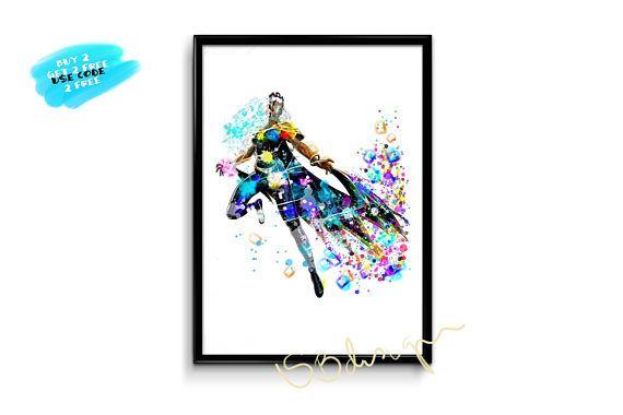 Xmen Storm Printable poster xmen storm print watercolor xmen