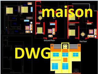 Plan Maison Dwg Telecharger Gratuit #geniecivil #btp #excel #bâtiment  #chantier #