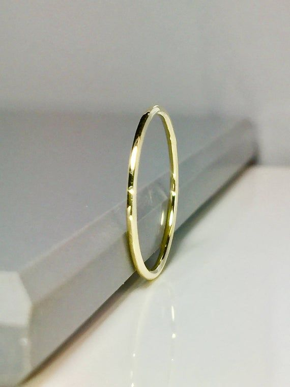 Sale 14k 10k Solid Gold Band Gold Midi Rings Gold Stacking Rings Gold Pinky Rings Thin Gold Bands Gold Rings For Women In 2020 Solid Gold
