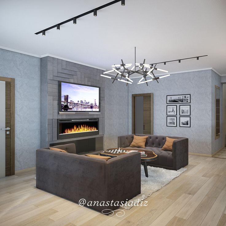 Дизайн гостиной в стиле лофт. Мы создадим интерьер квартиры или общественного помещения, любой сложности и стиля. #гостиная #русскиедизайнеры #инстаграм #стиль #красота #дизайнстудия #дизайнпроект #дизайнквартиры #дизайндома #дизайнер #дизайн #студия #интер