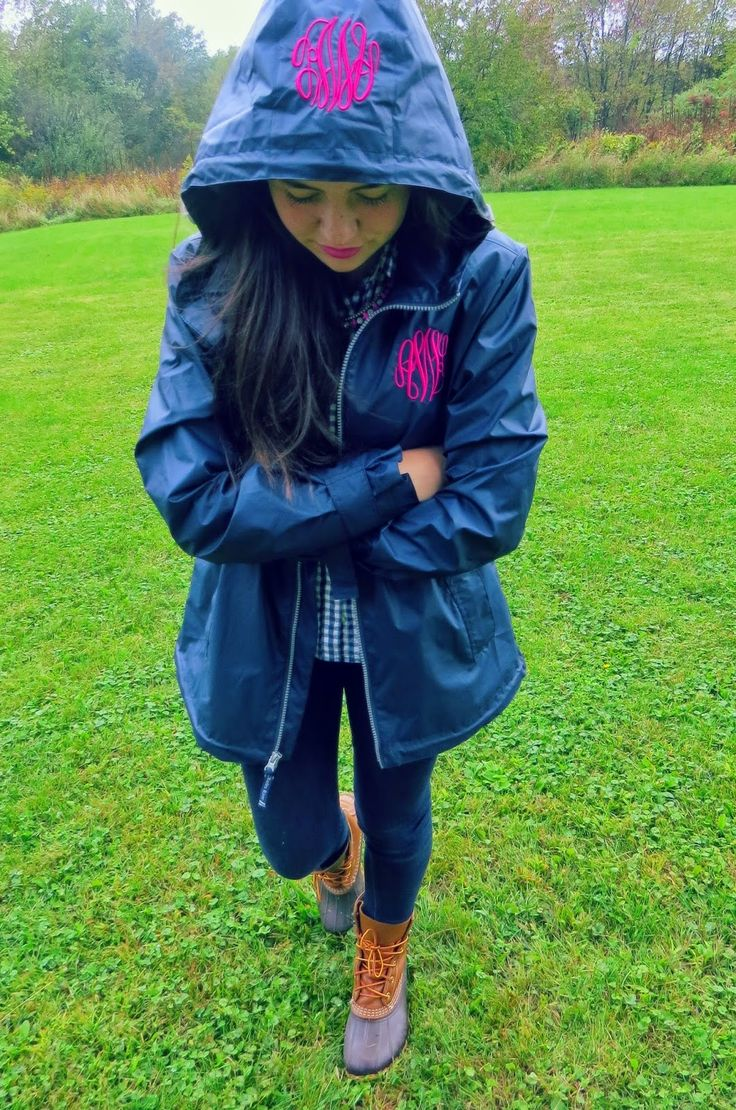 Monograms on a Rainy Day (coat from Tiny Tulip Monograms)