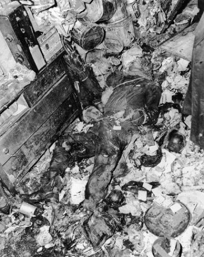 The body of Langley found: - Homer Lusk Collyer and Langley Wakeman Collyer, known as the Collyer brothers, were two American brothers who became famous because of their bizarre natures and compulsive hoarding. Both were eventually found dead in the Harlem brownstone where they had lived, surrounded by over 140 tons of collected items that they had amassed over several decades.