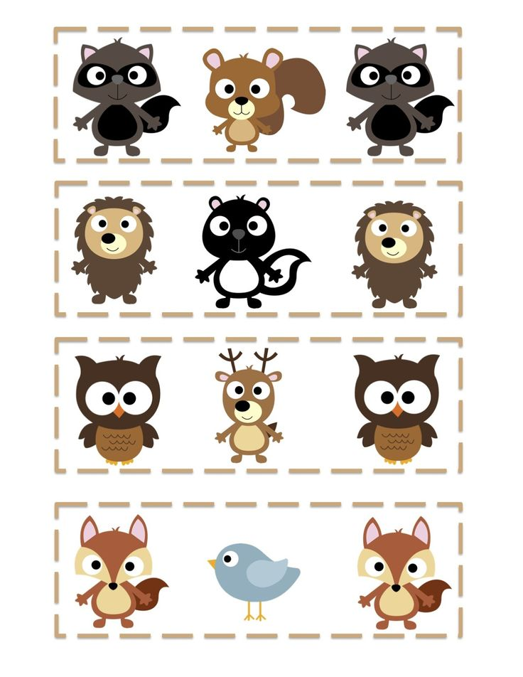 Preschool Printables: Free Forest Friends Printable