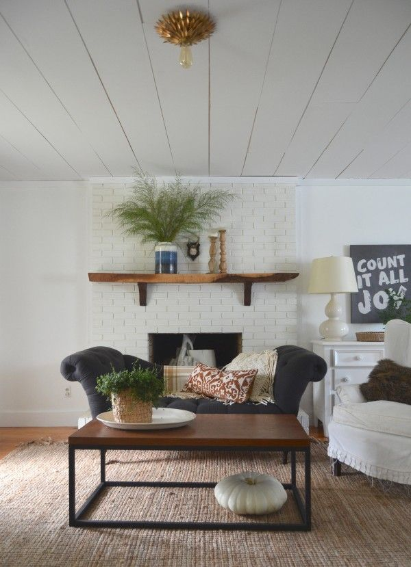 Fall Tour :: Cozy Minimalist Style · Painting FireplaceFamily Room ...