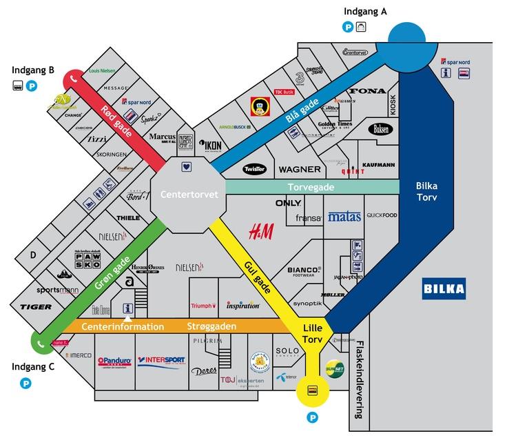 Ålborg storcenter kort | Maps | Pinterest