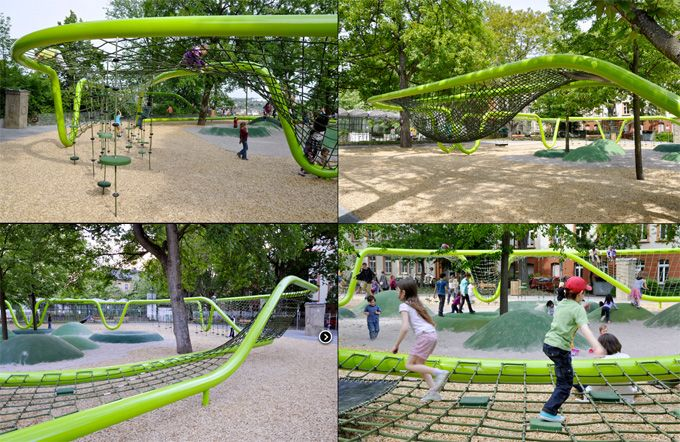 Sculptural Playground - Wiesbaden, Germany.  I wish there was a park like this in my city for the kids.