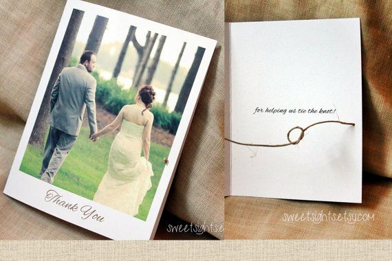 Check out this item in my Etsy shop https://www.etsy.com/listing/252170787/tying-the-knot-photo-thank-you-card