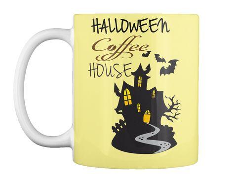 Halloween  House Butter Yellow Mug Front