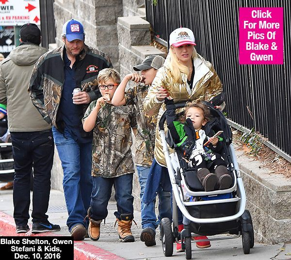 Blake Shelton & Gwen Stefani Jet Off On Romantic Winter Getaway With Kids