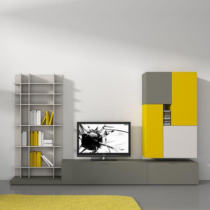 TV-Unit Ziggurat by Orme. #contemporaryinterior #wallunit #homeinterior…