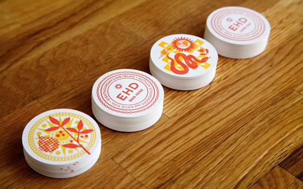 Eight Hour Day » Letterpress coasters