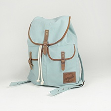 Coyote Bags: Handmade Powder Blue Backpack - at Mill & Way/ HERMOSA