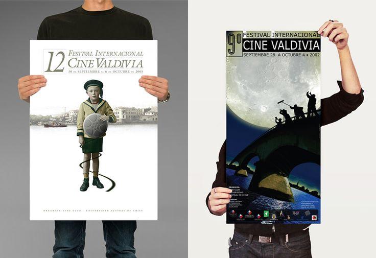 Afiches 9º y 12º Festival Internacional de Cine de Valdivia