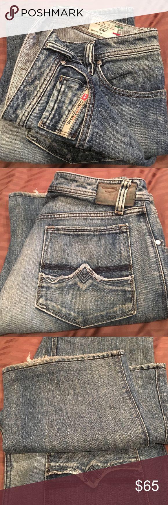 Men's Italian Diesel ZAF  jeans 31X32 Light blue diesel denim in great condition Diesel Jeans Boot Cut