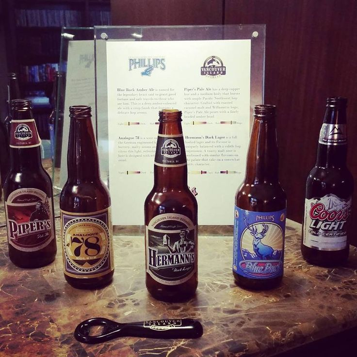 Selection of Vancouver Island Craft Beer in our bar at Abigail's Hotel. Victoria, BC.