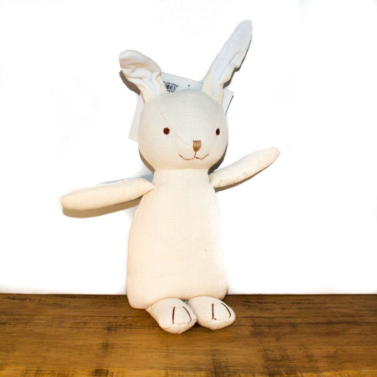 100% Organic bunny toy, hypoallergenic and manufactured from materials that have had no toxic substances used. It's the perfect toy to snuggle with!
