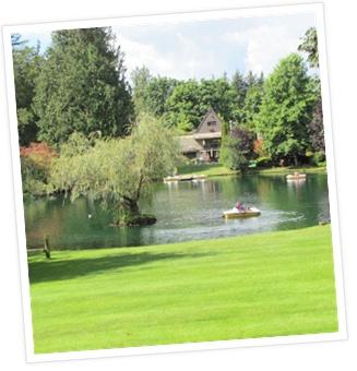 The pond at the Lynden/Bellingham KOA